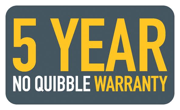 5 Year No Quibble Warranty